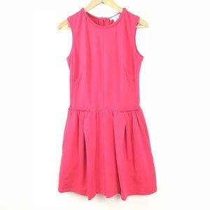 Carven Dress Pleated A Line Sleeveless Pink L